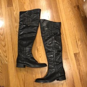 Shoes - Above the Knee Leather Boots